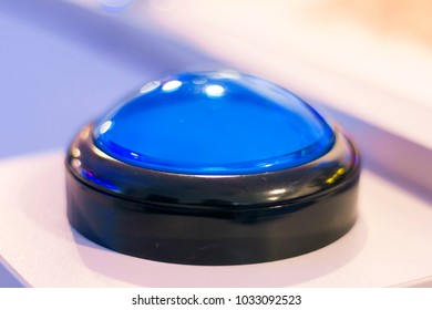 Blue push alarm button. vintage electronic