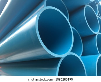 Blue PVC pipe for water