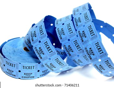 Blue Raffle Tickets