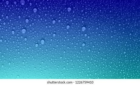 Blue rain Background