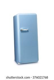 Blue a retro the fridge