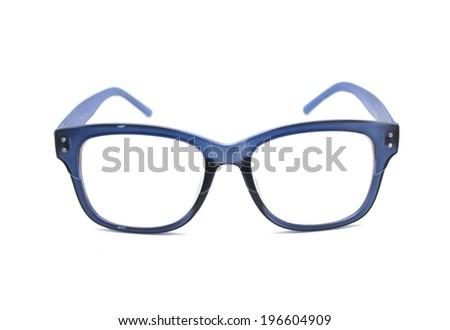 389e2cc59720 Blue Retro Nerd Frames Glasses On Stock Photo (Edit Now) 196604909 ...