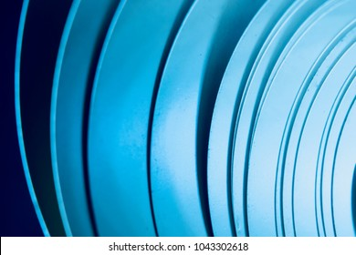 Blue ribbons object stylish cool abstract background photograph