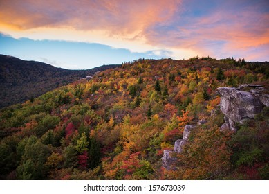 Blue Ridge Mountain Sunset in the Fall
