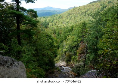 Blue Ridge Mountain View from Glen Falls North Carolina