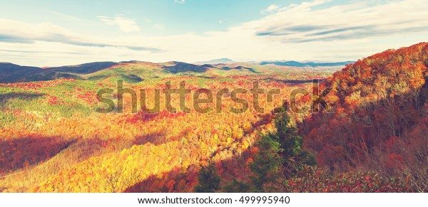 Blue Ridge Mountains Autumn Near Asheville Stock Photo Edit