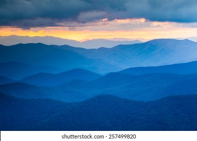 The Blue Ridge Mountains are noted for their bluish color due to the Isoprene released into the atmosphere contributing to the characteristic haze and distinctive color.