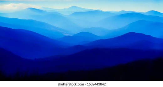 Blue Ridge Mountains, Shenandoah National Park, Virginia, USA - Shutterstock ID 1632443842