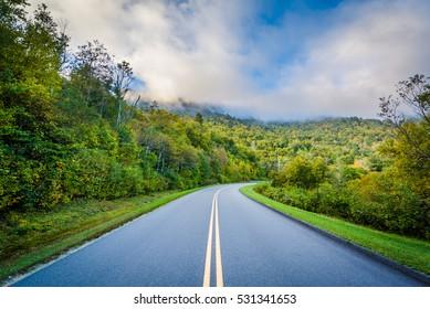 The Blue Ridge Parkway, near Blowing Rock, North Carolina.