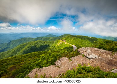 Blue Ridge Parkway North Carolina Mountains Scenic Outdoor Landscape Asheville NC from Craggy Gardens vacation destination in the Southern Appalachians