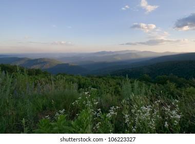 Blue Ridge view from Skyline Drive, Shenandoah National Park, Virginia