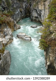 Blue river at Kootenay National Park, Canada