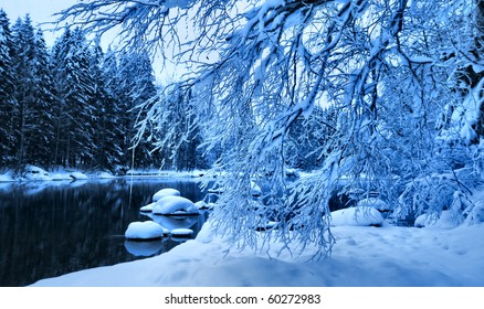 Blue River in winter