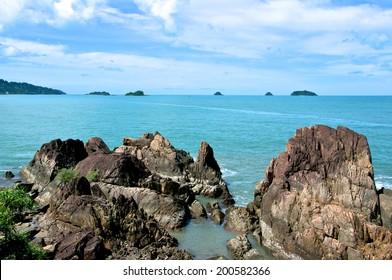 Blue Rocky Ocean