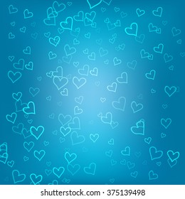 Blue romantic background for Web and Mobile Applications, Illustration template design, business info-graphic, cover, banner, presentation, page, poster, document