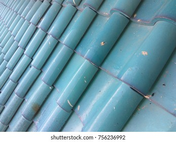 blue roof top stacked for shield from sun and rain