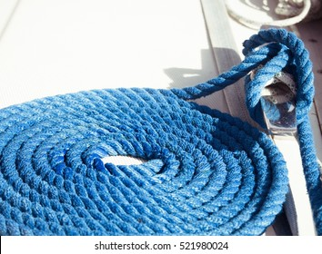 Blue rope background, naval, sailing equipment
