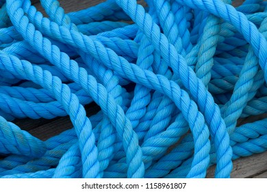 Blue rope at Peggy's Cove, Nova Scotia