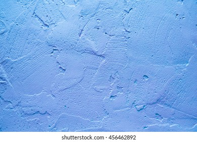 blue rough cement wall texture. Wall painted in retro texture