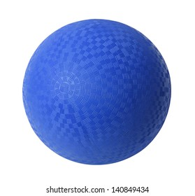 Blue Rubber Ball Isolated on White Background.
