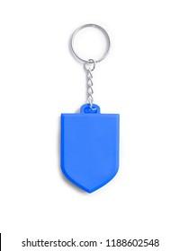 blue rubber keychain trinket