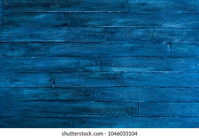blue rustic woody background of wooden boards