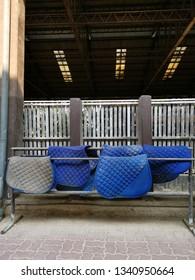 blue saddle pads