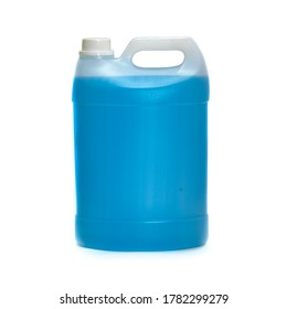 Blue Sanitizer five liter can without label