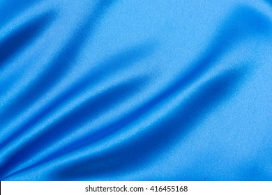 Blue satin, fabric and silk texture or background