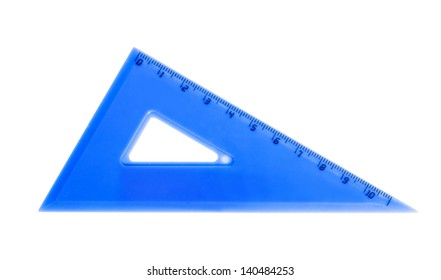 blue school triangle isolated