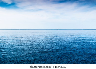 Blue sea background.