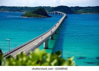 Blue sea and bridge