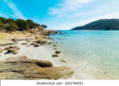 Blue sea in Cala Pira. Sardinia, Italy