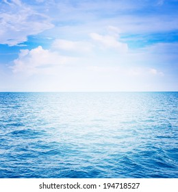 Blue sea with cloud for natural background - Shutterstock ID 194718527