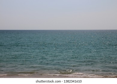 blue sea and the horizon