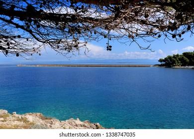 blue sea in Rovenska, island Losinj, Croatia