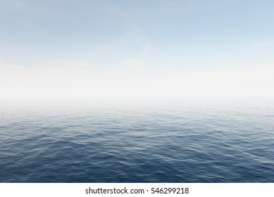 Blue sea and blue sky background.