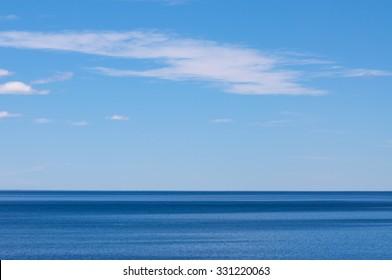 Blue sea and sky - Sea horizon - Color in Nature