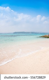 The blue sea and sky in Okinawa, Japan