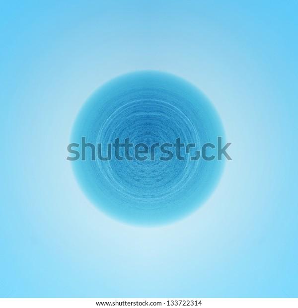 blue sea and sky planet