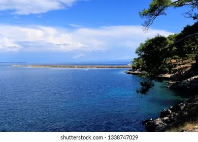 blue sea and sky, Rovenska, island Losinj, Croatia