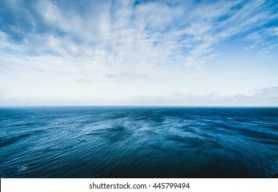 Blue sea surface