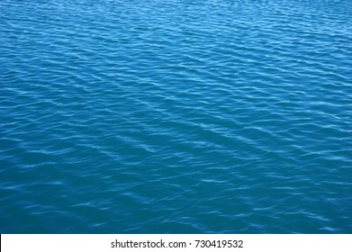 Blue sea surface with waves . Water background.
