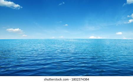 Blue sea water surface on sky - Shutterstock ID 1802374384