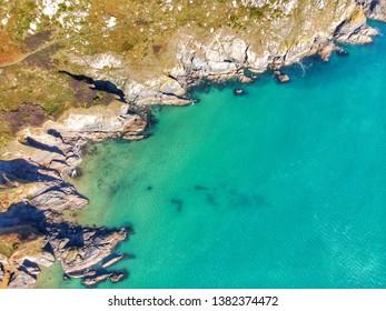 Blue seas off the South Devon coast near Salcombe
