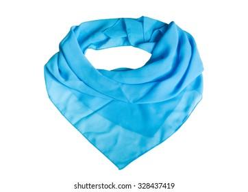 Blue shawl on the white background.