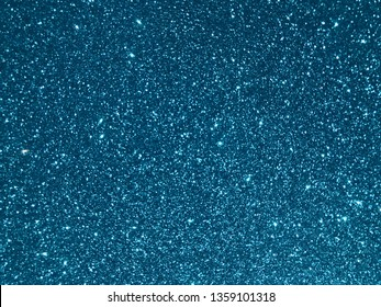 blue shining glitter texture background. Selective focus.Shallow dof.