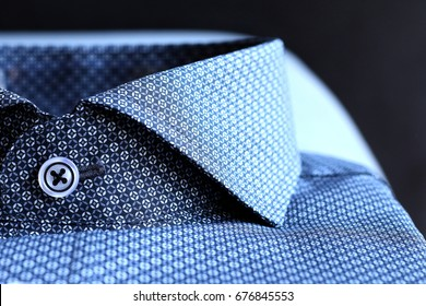 Blue shirt with collar