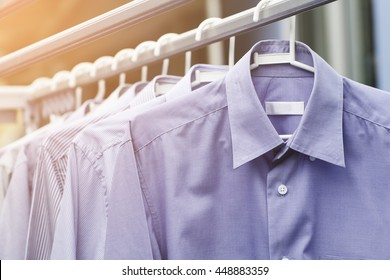 Blue shirt wait for dry after cleaning clothes on daytime