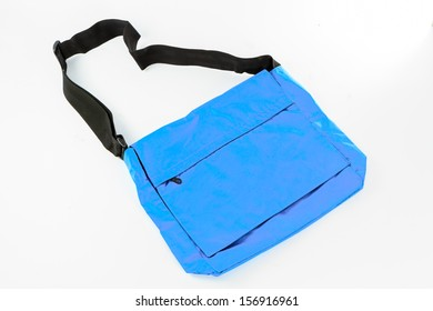 blue Shoulder bag isolate on white background